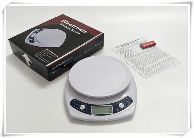 White Home Electronic Scale Logo Printing With Low Battery Indicator