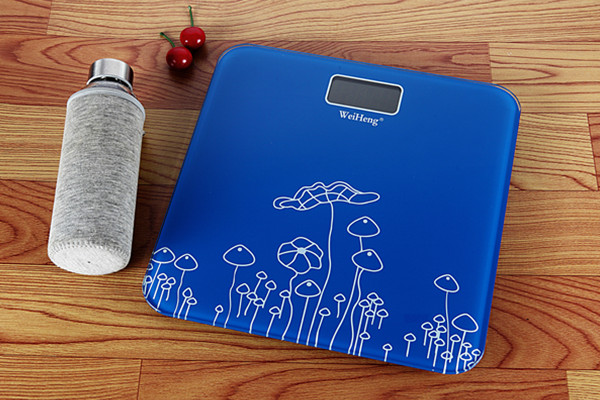 Collision Avoidance Electronic Bathroom Scales With Big Blue LED Display