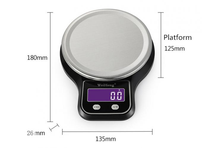 High Precision Digital Kitchen Scales Durable LCD Display 3 Kg 0.1 G Division