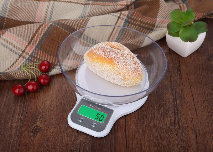 11 Lb 5 Kg Green Black-Lit Electronic Kitchen Scales , Digital Food Weighing Scales