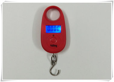 China Steel Hook Suitcase Weighing Scales , Pocket Size Digital Luggage Scale supplier