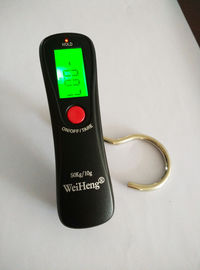 China Black Hook Strap Travel Digital Scale Over Load Indication With CR2032 Batteries supplier
