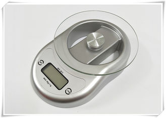 China Silver Color Tempered Glass Digital Scale With 5000g Maximum Load supplier