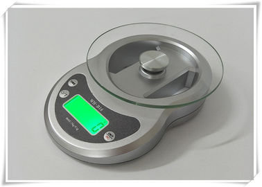 China Timer Function Kitchen Weight Scale , Tempered Glass Platform Portable Food Scale supplier