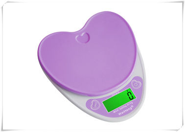 China Heart Shape Portable Food Scale , Strain Gauge Sensor Kitchen Weight Scale supplier