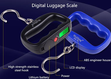 China High Strength Belt Digital Luggage Weighing Scale With Value Lock Function supplier