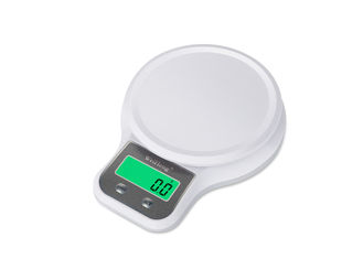 China 11 Lb 5 Kg Green Black-Lit Electronic Kitchen Scales , Digital Food Weighing Scales supplier