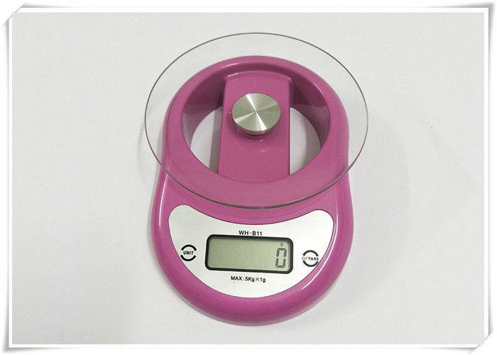 ABS Shell Food Weighing Scales , Bright LCD Display Digital Kitchen Scales