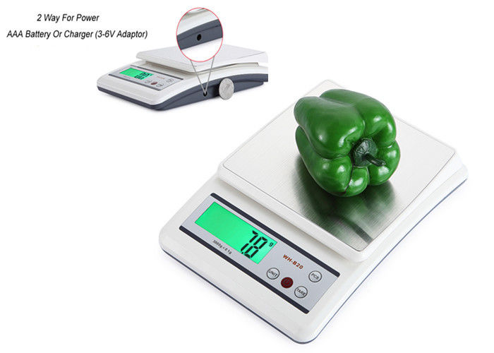 10kg Max Capacity High Precision Kitchen Scale With 2 * AAA Batteries Power