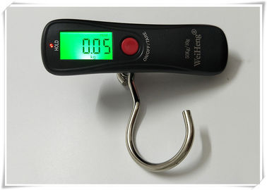 50kg / 110lb LCD Digital Luggage Scale Green Backlit With Big Steel Hook