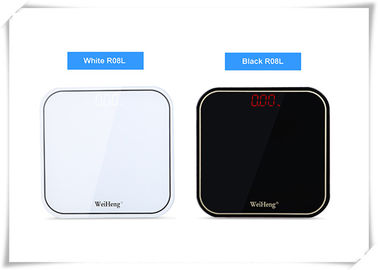Black White Bathroom Scale With Body Fat High Precision Electronics Weighing Scale
