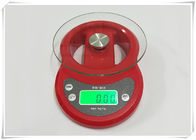 Tempered Glass Home Electronic Scale Red Color For Kitchen Weighing Food