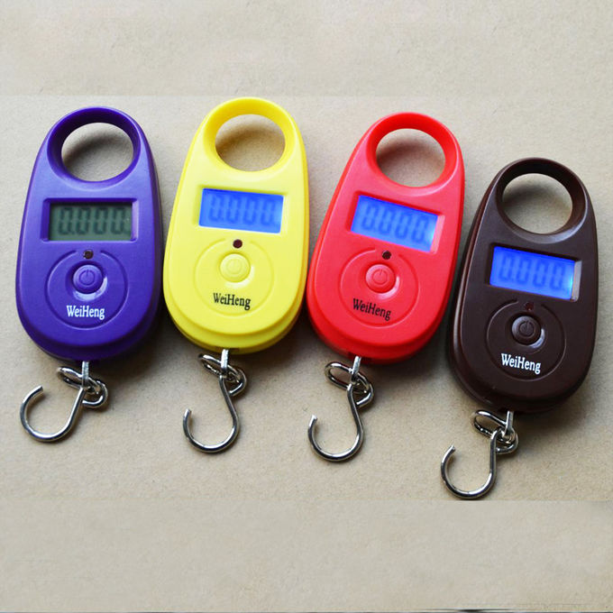 Colorful Digital Hanging Scale Tare Function With 1 * CR2032 Battery Power