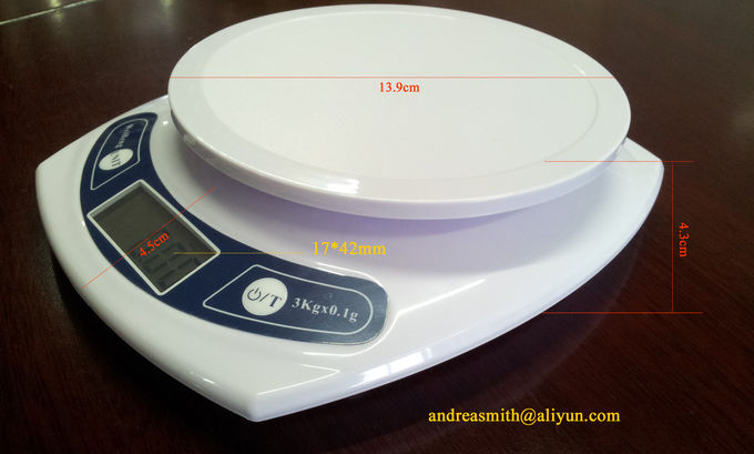 7000g / 1g Electronic Cooking Scales , Tare Function Pocket Food Scale
