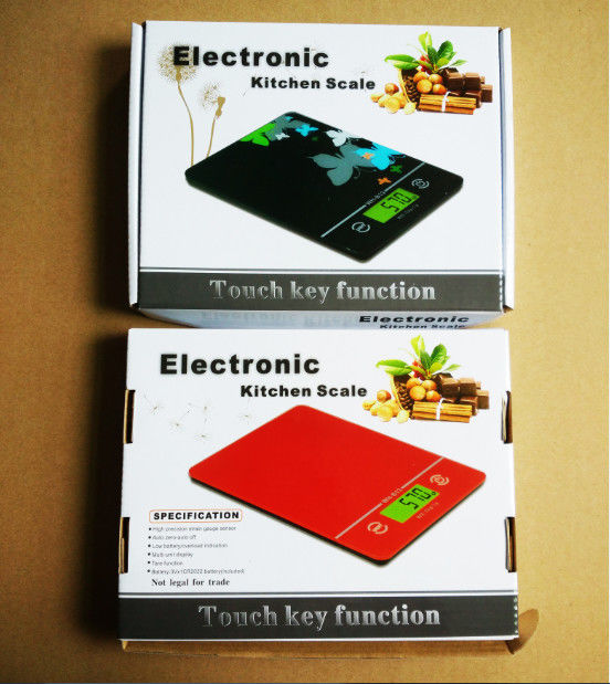 Big LCD Kitchen Electronic Scales , ABS Plastic Digital Scale For Food