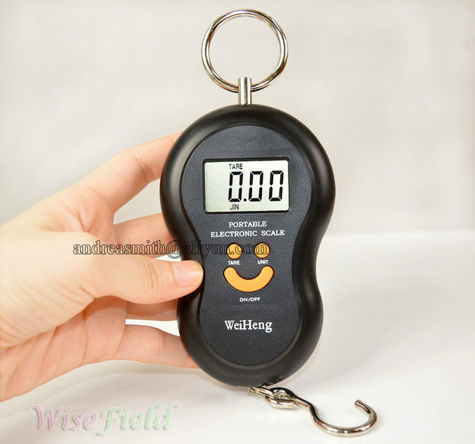 ABS Plastic Hanging Gram Scale , Units Conversion Handheld Luggage Scale